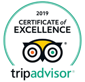 Award Certificate of Excellence Tripadvisor 2019