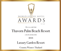 Award World Luxury Hotel Aards Certify Thavorn Palm Beach Resort 2018 Luxury Garden Resort