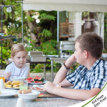 Family Fun Package- Kid Stays And Eats Free!
